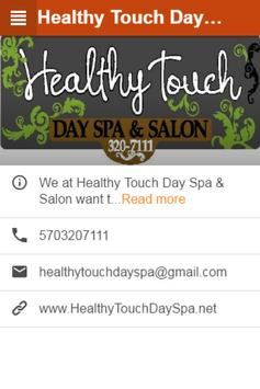 Healthy Touch Day Spa apk screenshot