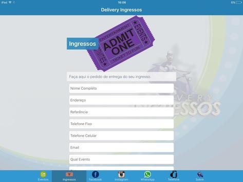 Delivery Ingressos screenshot 4