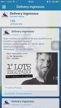 Delivery Ingressos screenshot 2