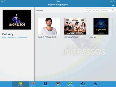 Delivery Ingressos screenshot 3
