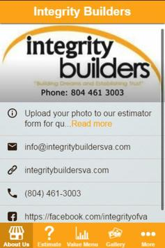 Integrity Builders Pricing App poster