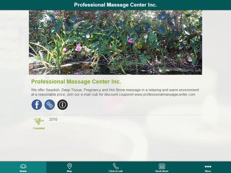 Professional Massage Center apk screenshot