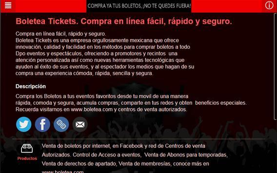 Boletea Tickets apk screenshot