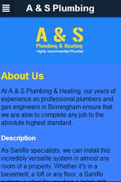 A and S Plumbing poster