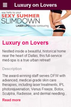 LUXURY ON LOVERS: Adv. Med-Spa poster