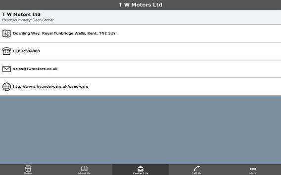 T W Motors Ltd apk screenshot