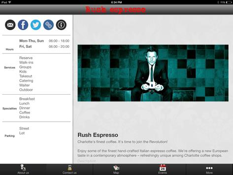 Rush Espresso Cafe screenshot 9