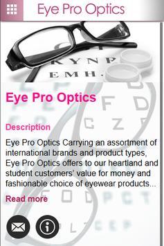 Eye Pro Optics poster