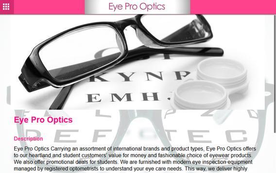 Eye Pro Optics apk screenshot