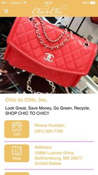 Chic To Chic Consignment poster