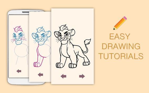 Draw Drawings Jungle Guard for Animal King screenshot 8