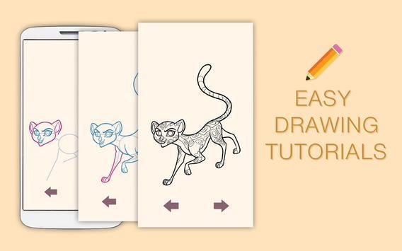 Draw Drawings Jungle Guard for Animal King screenshot 1