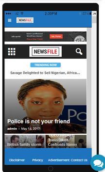 Newsfile NG screenshot 1