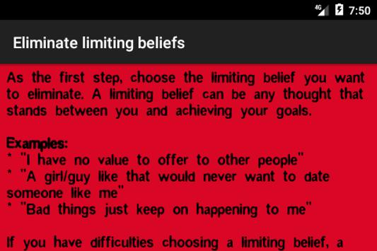 Eliminate limiting beliefs poster