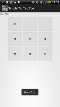 Simple Tic Tac Toe screenshot 1