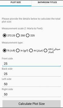 Land & Zameen, Plot Size & Bath Tiles Calculator screenshot 2