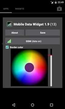 Mobile Data Widget screenshot 1