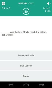 History of Movies Quiz screenshot 3