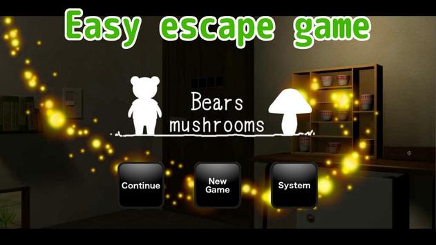 Escape Game Bears mushrooms poster