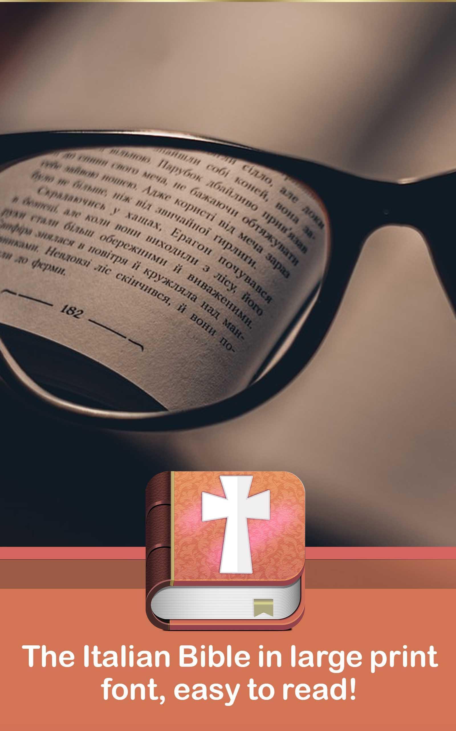 Large print Bible in Italian poster