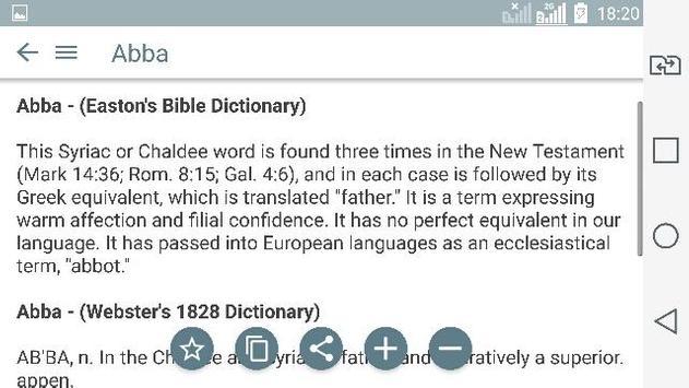 Bible Dictionary & KJV Daily Bible apk screenshot