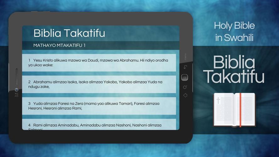 Biblia Takatifu Ya Kiswahili Swahili Bible Apk 1 0 0 Download For Android Download Biblia Takatifu Ya Kiswahili Swahili Bible Apk Latest Version Apkfab Com