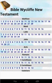 Bible Wycliffe New testament apk screenshot