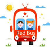 Big Red Bus - An offline video song aap for kids icon