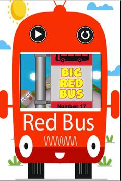 Big Red Bus - An offline video song aap for kids poster