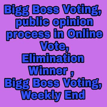 BiggBoss Voting-Public Opinion apk screenshot