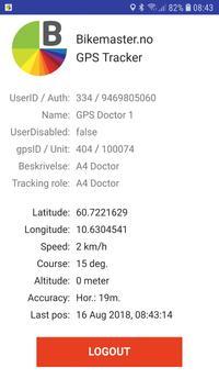 Bikemaster GPS Tracker screenshot 1