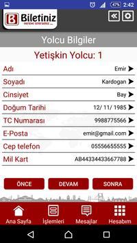 Biletiniz apk screenshot