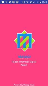 Papan Informasi Digital - Admin poster