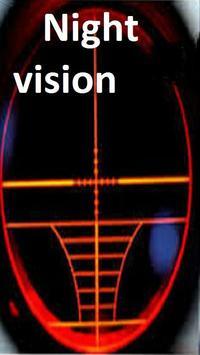 Binoculars Night vision poster