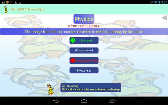 binny Bear Science Quiz(free) screenshot 10