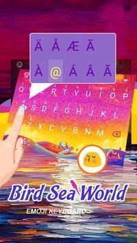 Bird Sea World Theme&Emoji Keyboard screenshot 1