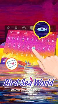 Bird Sea World Theme&Emoji Keyboard screenshot 2