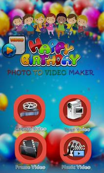 Birthday Photo Video Editor poster