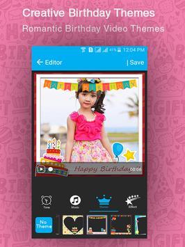 Birthday Movie Maker apk screenshot