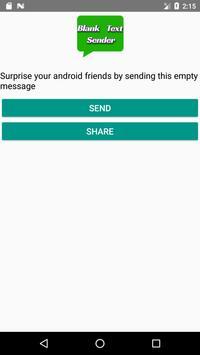 Empty Text Sender screenshot 1