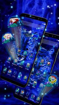 3D Blue Neon Tiger screenshot 1