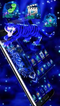 3D Blue Neon Tiger screenshot 2