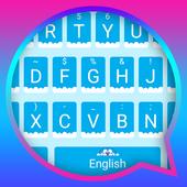 Blue Cat Sky Theme&Emoji Keyboard icon