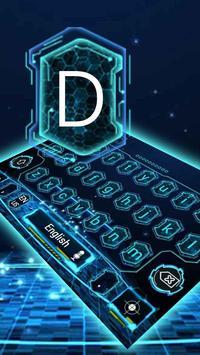 blue dna biology life science typewriter tema apk screenshot