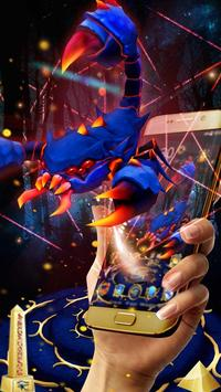 3D Blue Egyptian Scorpion Theme poster