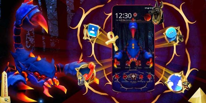 3D Blue Egyptian Scorpion Theme screenshot 3