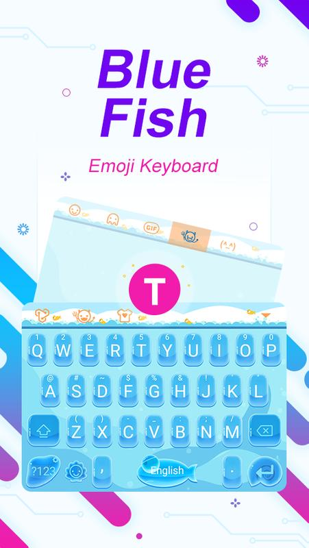 Blue Fish Themeemoji Keyboard For Android Apk Download