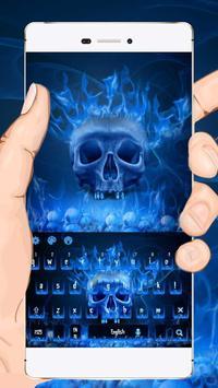 Flaming Skull Keyboard Theme poster