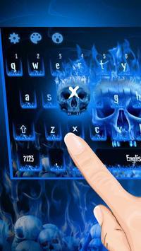 Flaming Skull Keyboard Theme apk screenshot