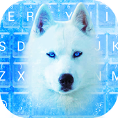 Blue Ice Wolf Theme&Emoji Keyboard icon